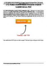 172 ford industrial engine parts ga80016eaa pdf