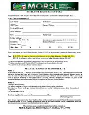 2018 player registration form morsl waiver of responsibility