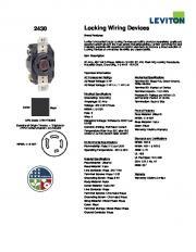 2430 Locking Wiring Devices - Promelsa