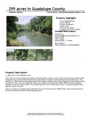 299 acres in Guadalupe County