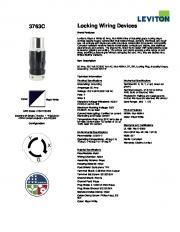 3763C Locking Wiring Devices