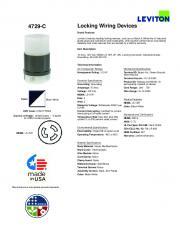 4729-C Locking Wiring Devices