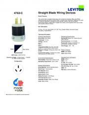 4763-C Straight Blade Wiring Devices