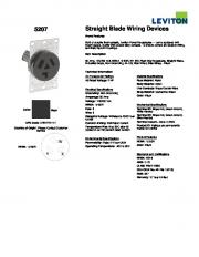 5207 Straight Blade Wiring Devices