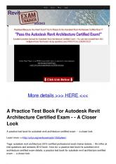 A Practice Test Book For Autodesk Revit Architecture