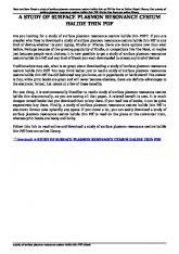 a study of surface plasmon resonance cesium halide