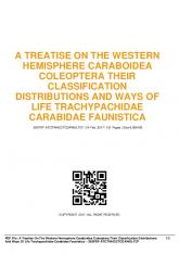 a treatise on the western hemisphere caraboidea ...  AWS