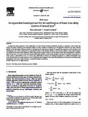 An eigenvalue based approach for the stabilization of ... - KU Leuven