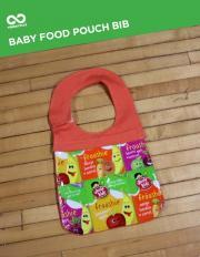 baby food pouch bib