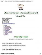 Bamboo Garden Chinese Restaurant & Sushi ... - SLIDETRY.COM