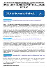 basic stoichiometry phet lab answer key pdf