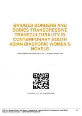 bridges borders and bodies transgressive ...  AWS