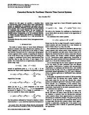 Canonical Forms for Nonlinear Discrete Time ... - Semantic Scholar