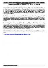 chapter 12 stoichiometry practice pdf