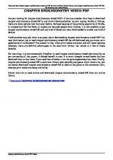 chapter stoichiometry mixed pdf