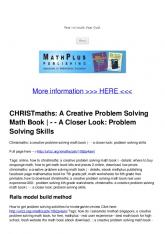 CHRISTmaths: A Creative Problem Solving Math Book