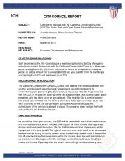 city council report