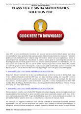 class 10 kc sinha mathematics solution pdf
