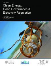 Clean Energy, Good Governance & Electricity Regulation