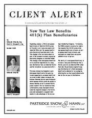 client.alert_new tax law benefits 401 k dcm dd 08_07.qxp - JD Supra