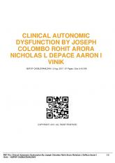 clinical autonomic dysfunction by joseph colombo rohit arora