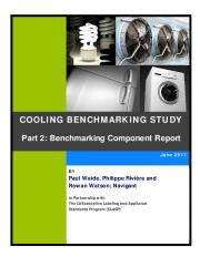 COOLING BENCHMARKING STUDY Part 2