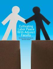 Cultivating Labor Peace With Adjunct Faculty - CUPA-HR