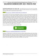 diamond horoscope 2011 pisces pdf