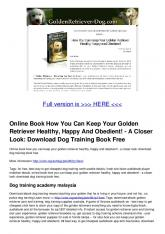 Download Dog Training Book Free
