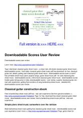 Downloadable Scores User Review