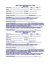 Edison Angels Medical Release form