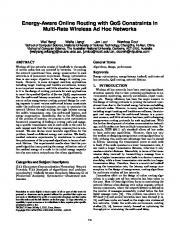 Energy-aware online routing with QoS constraints ... - Semantic Scholar
