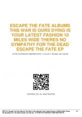 escape the fate albums this war is ours dying is your ...  AWS
