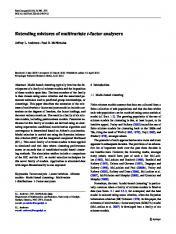 Extending mixtures of multivariate t-factor analyzers - Springer Link