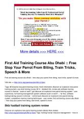 First Aid Training Course Abu Dhabi :: Free Stop Your