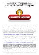 fisioterapia masaje primeros auxilios y tecnica de vendaje pdf