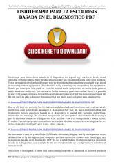 fisioterapia para la escoliosis basada en el diagnostico pdf