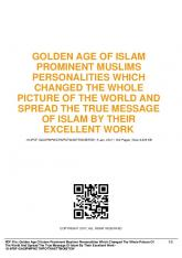 golden age of islam prominent muslims personalities ...  AWS