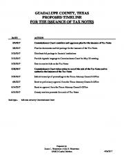 guadalupe county, texas proposed timeline for the issuance of tax ...