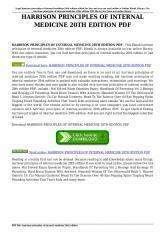 harrison principles of internal medicine 20th edition pdf