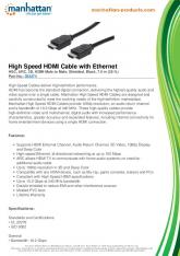 High Speed HDMI Cable with Ethernet - Manhattan Products