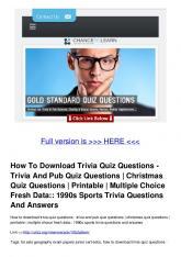 How To Download Trivia Quiz Questions - Trivia And Pub Quiz