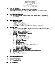i. call to order ii. spotlight successes iii. informational