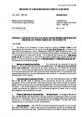 IN LIEU OF IAFZ 2137A INVITATION TO TENDER AND