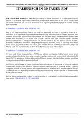 italienisch in 30 tagen pdf - PDFDOKUMENT.COM