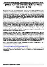 james potter and the bolt of ages project 1 l pdf