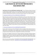 lab manual of fluid mechanics machines pdf