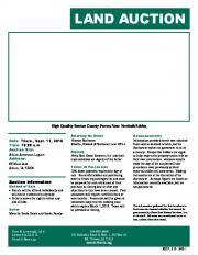 land auction - Hertz Real Estate Services