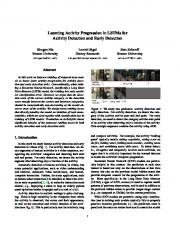 Learning Activity Progression in LSTMs for Activity Detection and Early