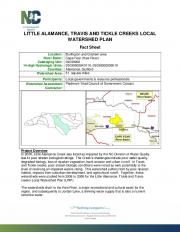little alamance, travis and tickle creeks local watershed plan - NC.gov